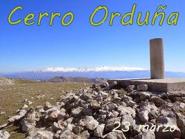 Subida a la cueva del agua y Cerro Orduña